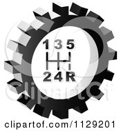 Clipart Of A Grayscale Shift Gear Cog Icon Royalty Free Vector Illustration by Andrei Marincas