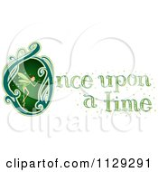 Cartoon Of Once Upon A Time Text With A Fairy Royalty Free Vector Clipart
