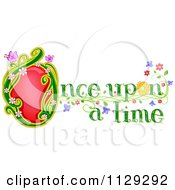 Cartoon Of Once Upon A Time Fairy Tale Text Royalty Free Vector Clipart