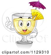 Cartoon Of A Happy Pina Colada Cocktail Mascot Royalty Free Vector Clipart