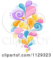 Cartoon Of A Colorful Splash Design Royalty Free Vector Clipart by BNP Design Studio