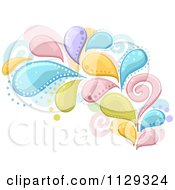 Cartoon Of A Colorful Splash And Swirl Design Royalty Free Vector Clipart by BNP Design Studio