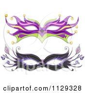 Cartoon Of Masquerade Ball Masks Royalty Free Vector Clipart by BNP Design Studio