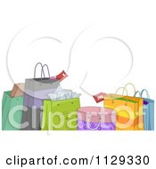 Cartoon Of Shopping Or Gift Bags Royalty Free Vector Clipart