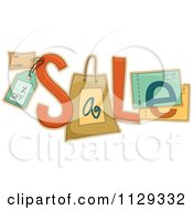 Cartoon Of The Word Sale Composed Of Tags And Coupons Royalty Free Vector Clipart