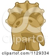 Cartoon Of A Triceratops Behind Royalty Free Vector Clipart by BNP Design Studio