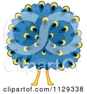 Cartoon Of A Peacock Behind Royalty Free Vector Clipart by BNP Design Studio