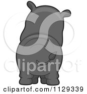 Cartoon Of A Rhino Behind Royalty Free Vector Clipart by BNP Design Studio