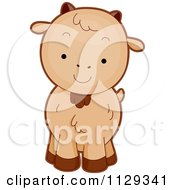 Cartoon Of A Cute Goat Royalty Free Vector Clipart by BNP Design Studio