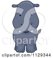 Cartoon Of A Cute Hippo Royalty Free Vector Clipart by BNP Design Studio
