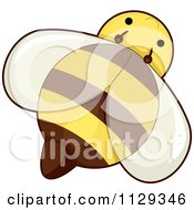 Cartoon Of A Cute Honey Bee Royalty Free Vector Clipart by BNP Design Studio