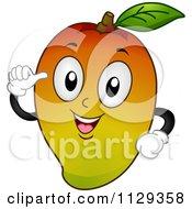 Mango Mascot Holding A Thumb Up