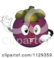 Cartoon Of A Mangosteen Mascot Holding A Thumb Up Royalty Free Vector Clipart