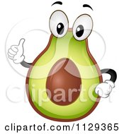 Avocado Mascot Holding A Thumb Up