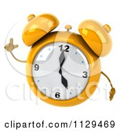 Clipart Of A 3d Yellow Alarm Clock With An Idea Royalty Free CGI Illustration by Julos