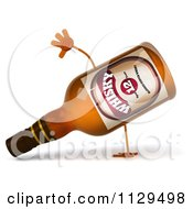 Clipart Of A 3d Whisky Bottle Cartwheeling Royalty Free CGI Illustration by Julos