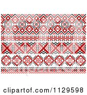 Clipart Of A Red Black And White Native American Border Designs 2 Royalty Free Vector Illustration by Vector Tradition SM