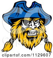 Clipart Of An Angry Pirate Face With An Eye Patch 4 Royalty Free Vector Illustration