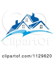 Clipart Of Houses With Roof Tops 13 Royalty Free Vector Illustration