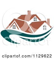 Clipart Of Houses With Roof Tops 12 Royalty Free Vector Illustration