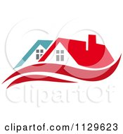 Clipart Of Houses With Roof Tops 10 Royalty Free Vector Illustration