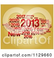 Clipart Of A Red New Year Collage Over Gold Royalty Free CGI Illustration by MacX