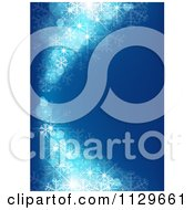 Clipart Of A Blue Snowflake Curve Christmas Background Royalty Free Vector Illustration