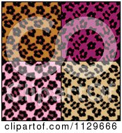Clipart Of Seamless Colorful Leopard Print Patterns Royalty Free CGI Illustration