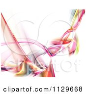 Colorful Swirling Fractal Smoke Background