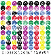 Background Of Colorful Expressional Faces