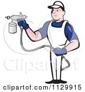 Retro Spray Painter Worker