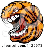 Cartoon Of A Screaming Basketball Mascot Royalty Free Vector Clipart