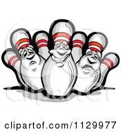 Happy And Sad Bowling Pin Mascots