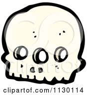 Cartoon Of An Alien Skull 5 Royalty Free Vector Clipart