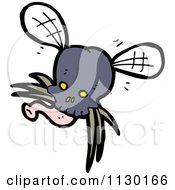 Cartoon Of A Skull Bug Fly 1 Royalty Free Vector Clipart