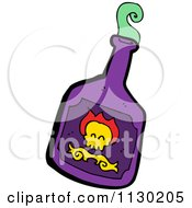 Cartoon Of A Purple Bottle Of Poison Royalty Free Vector Clipart