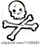 Cartoon Of A Skull And Crossbones Royalty Free Vector Clipart