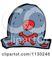 Cartoon Of A Pirate Hat With A Red Skull And Crossbones Royalty Free Vector Clipart