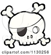 Cartoon Of A Pirate Skull With Crossbones 2 Royalty Free Vector Clipart by lineartestpilot #COLLC1130256-0180