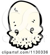 Cartoon Of An Alien Skull 1 Royalty Free Vector Clipart