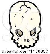Cartoon Of An Alien Skull 2 Royalty Free Vector Clipart by lineartestpilot