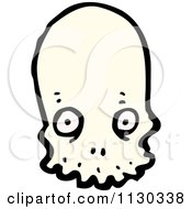 Cartoon Of An Alien Skull 3 Royalty Free Vector Clipart