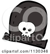 Cartoon Of A Pirate Hat With A Skull Royalty Free Vector Clipart