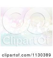 Clipart Of A Pastel Christmas Snowflake And Orb Background Royalty Free Vector Illustration