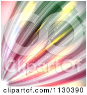 Clipart Of An Abstract Dynamic Line Bacground Royalty Free Vector Illustration