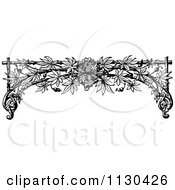 Clipart Of A Retro Vintage Black And White Trellis Arch And Vine Royalty Free Vector Illustration