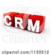 Clipart Of 3d Red And White CRM Cubes Royalty Free CGI Illustration by MacX