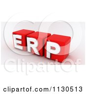 Clipart Of 3d Red And White ERP Cubes Royalty Free CGI Illustration by MacX
