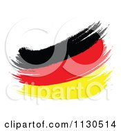 Clipart Of A Paint Stroke German Flag Royalty Free CGI Illustration