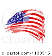 Clipart Of A Painted American Flag Royalty Free CGI Illustration